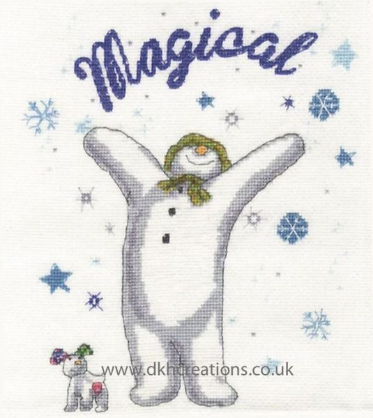 The Snowman and Snowdog A Magical Christmas  Cross Stitch Kit